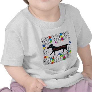 Dog Crossword with Dachshund T Shirt