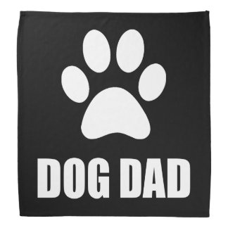 Dog Dad Paw Bandana