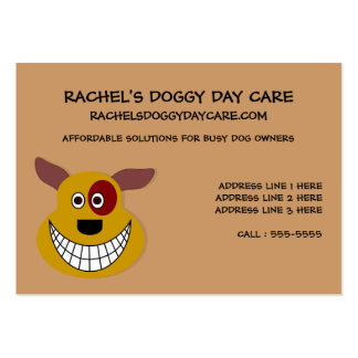 Dog Day Care Customizable Large Business Card