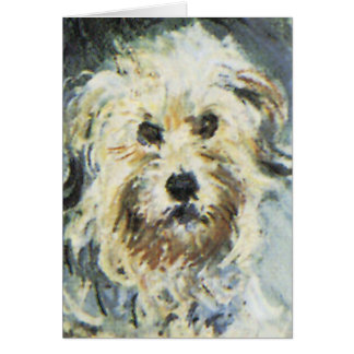 Dog Detail from Claude Monet Painting Card