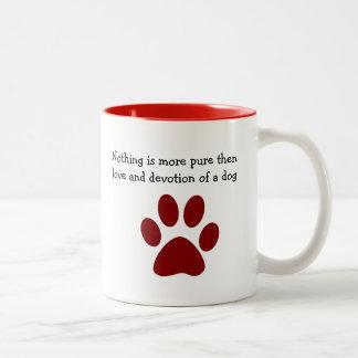 Dog Devotion And Love Two-Tone Coffee Mug