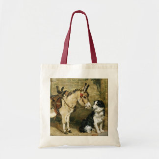Dog & Donkey Animal Friends - Vintage Art by Emms