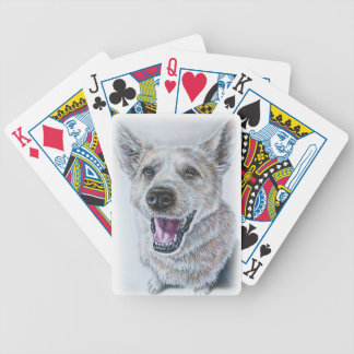 Dog Drawing Design of Sitting Happy Dog Bicycle Playing Cards