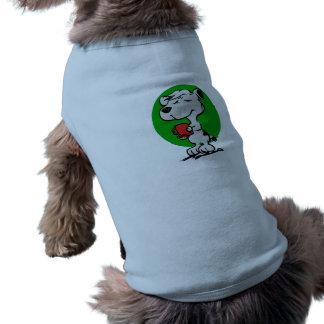 Dog drinking coffee shirt