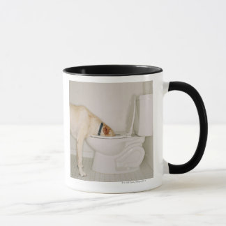 Dog Drinking out of Toilet Mug