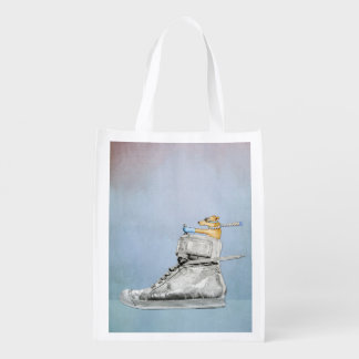 Dog Driving Shoe Resable Grocery Bag