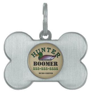 Dog Duck Hunter Pet Name Tag