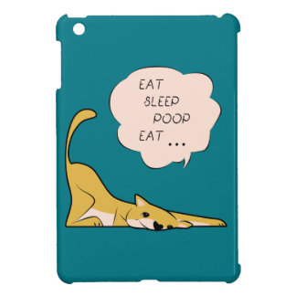 dog_eatsleeppoop iPad mini cases