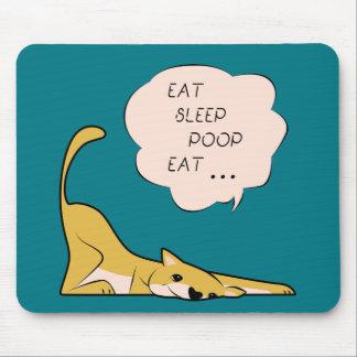 dog_eatsleeppoop mouse pad