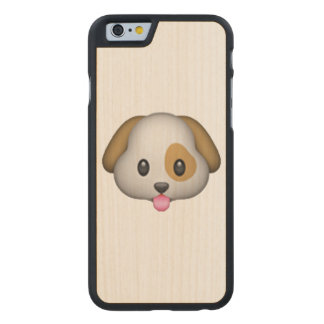 Dog - Emoji Carved Maple iPhone 6 Case