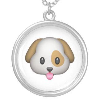 Dog - Emoji Silver Plated Necklace