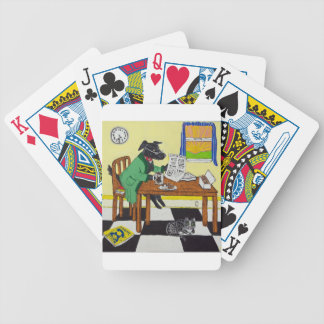 Dog Enjoying Coffee and Donuts Bicycle Playing Cards