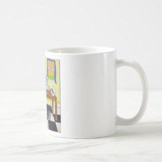 Dog Enjoying Coffee and Donuts Coffee Mug