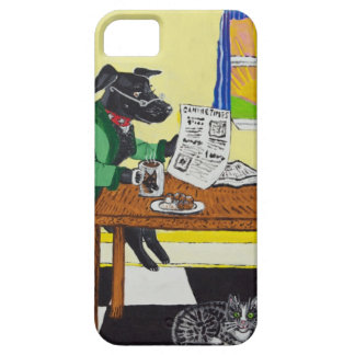 Dog Enjoying Coffee and Donuts iPhone 5 Case