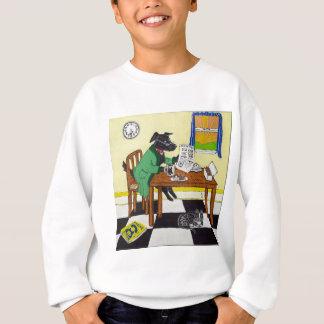 Dog Enjoying Coffee and Donuts Sweatshirt