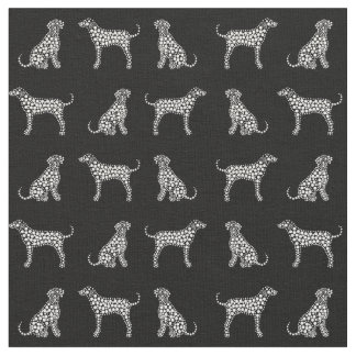 Dog Fabric, Dalmatian Fabric, Black & White Fabric