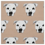 Dog Face Pattern Fabric