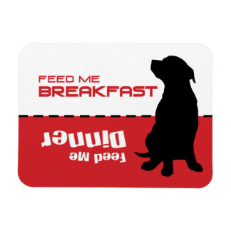 Dog Feeding Feed Me Magnet Dog is Hungry