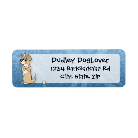 Dog Fetch Attitude Return Address Label