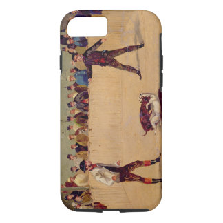 Dog Fighting (oil on paper) iPhone 7 Case