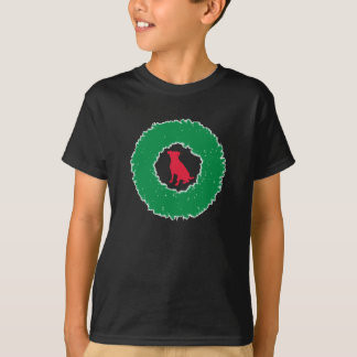 Dog Floppy Ears Christmas Wreath - Holiday Dog T-Shirt