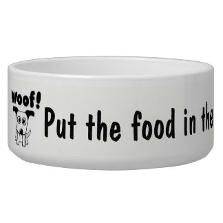 DOG FOOD DISH CUTE LARGE ADORABLE DURABLE DOG BOWL