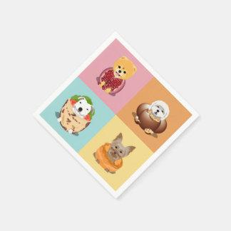 Dog Food Party Napkins Paper Napkin