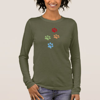 Dog footprint long sleeve T-Shirt