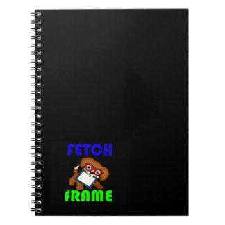 dog frame spiral notebook