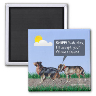 "Dog ""Friend Request"" Magnet"