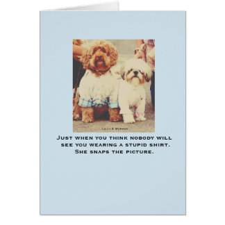 Dog Fun Card