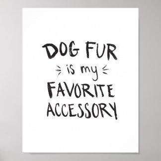 Dog Fur Print