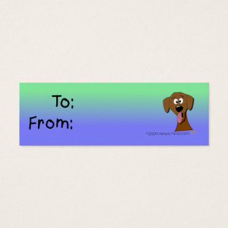 Dog Gift Tag (Green and Blue)