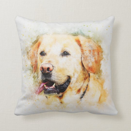 Dog Golden Lab Pet Family Room Pillow