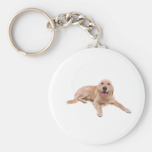 dog - golden retriever keychain