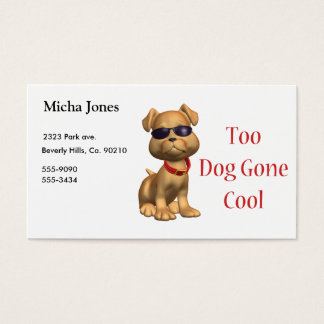 Dog Gone Cool Doggy Business Card