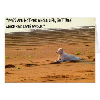 Dog greeting card, pet loss card, pet bereavement greeting card