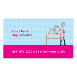 """Dog groomer business card 3.5"""" x 2.0"""", 100 pack"""
