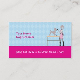 "Dog groomer business card 3.5"" x 2.0"", 100 pack"