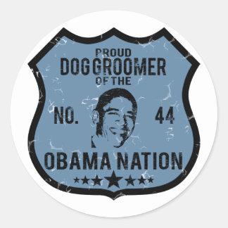 Dog Groomer Obama Nation Round Stickers