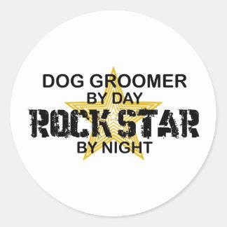 Dog Groomer Rock Star Round Sticker