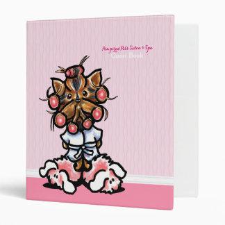 Dog Groomer Spa Guest Book Yorkie Pink Binder