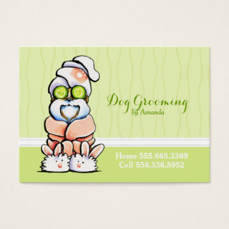 Dog Groomer Spa Robed Shih Tzu Cucumber Business Card