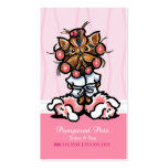 Dog Groomer Spa Yorkie Pink Appointment Pack Of Standard Business Cards