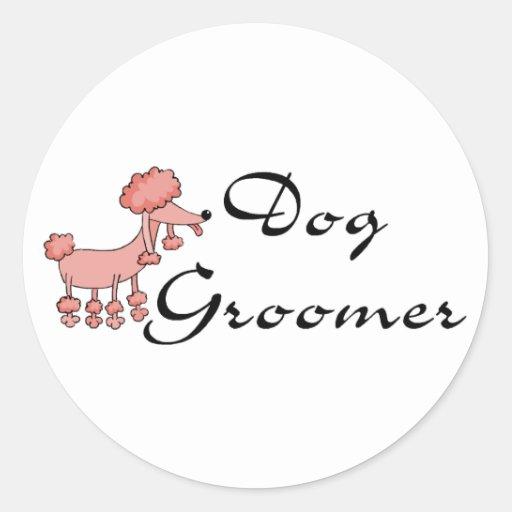 Dog Groomer Round Sticker