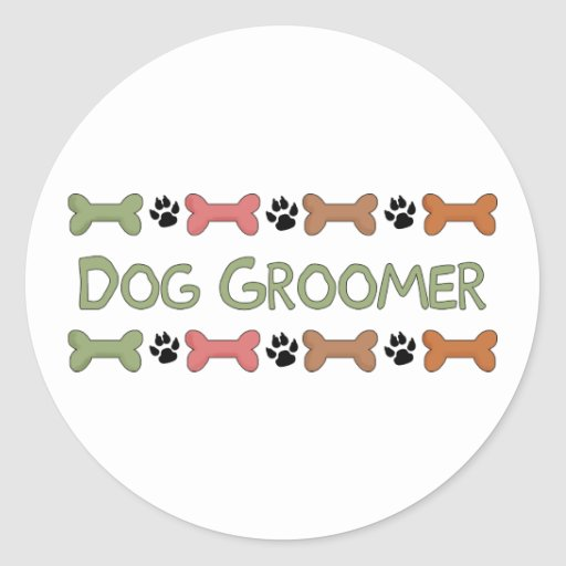 Dog Groomer Tees and Gifts Stickers
