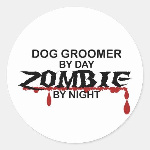 Dog Groomer Zombie Sticker
