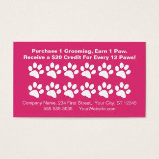 Dog Grooming Customer Rewards Card - Loyalty Card
