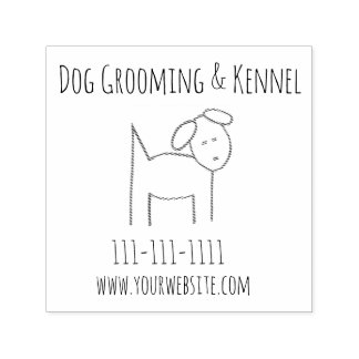 Dog Grooming & Kennel Company Self-inking Stamp