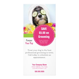 Dog Grooming Rack Card- Make it into anything